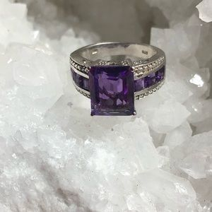 AMETHYST Sterling Silver Ring WOW